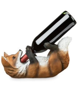 photo of fox wine bottle holder with bottle
