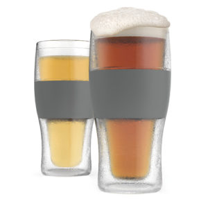 photo of freeze pint glasses