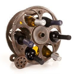 photo of gear wine rack
