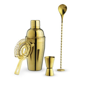 Photo of gold barware set