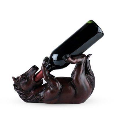 Photo of hooched up horse bottle holder