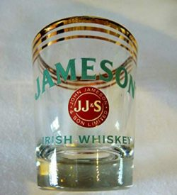 photo of jameson gold rim shot glass