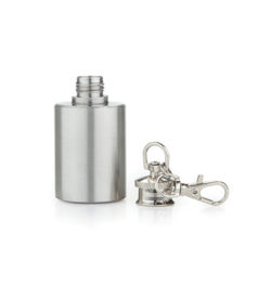 photo of keychain flask open