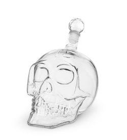 photo of skull decanter empty