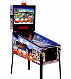 photo of south park pinball machine