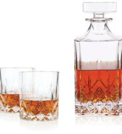 photo of viski crystal tumbler and decanter set